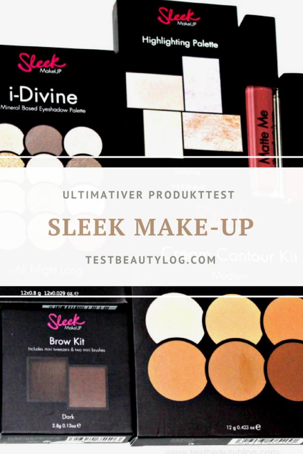 Sleek Make-up Produkttest - exklusiv - Testbericht - https://testbeautyblog.com - #sleek #make-up # Produkttest