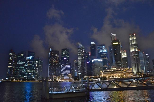Skyline_Singapur_Nacht; Reiseguide Singapur; Sehenswürdigkeiten Singapur, 3 Tage Singapur; https://testbeautyblog.com