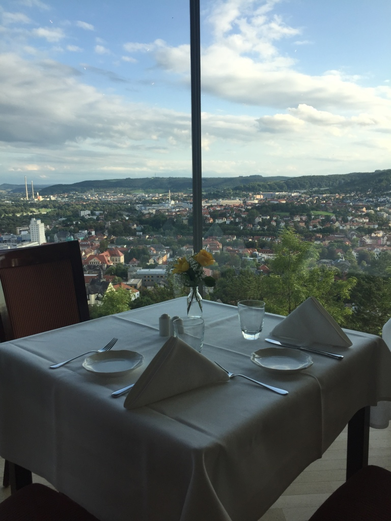 Aussicht aus dem Restaurant Landgrafen in Jena